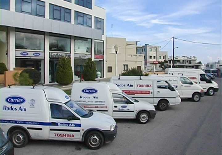 Αυτοκίνητα των συνεργείων της Rodos Air